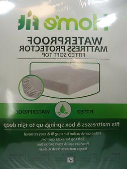 """1 Home Fit Waterproof Mattress Protector Cover Up to 15"""" Dee"""