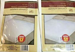 2 Full Size Fitted Mattress Protector WATER PROOF Cover By T