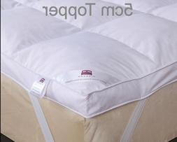 2'' Mattress Topper White Goose & Down Feather 5cm All Size