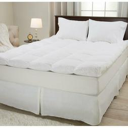 """4"""" Feathers Mattress Topper Queen Size Bed Pad Bedding Bedro"""