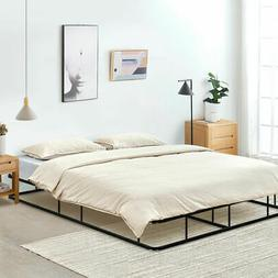 """9"""" Queen Size Bed Frame Low Profile Steel Slat Mattress Home"""