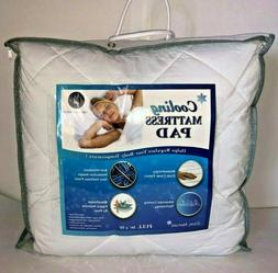 Great Bay Home Cooling Mattress Pad. Extra Plush Hypoallerge