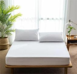 Cotton Mattress Cover Waterproof Bed Padded Antibacterial Ho