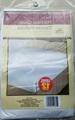 Home Collection Fitted Mattress Cover Full Size Plastic Proc