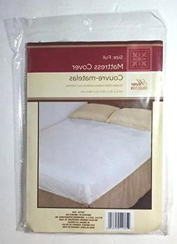 """Full Size Fitted Mattress Cover White 54"""" x 75"""" Waterproof P"""