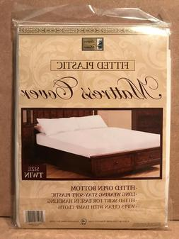 Better Home Fitted Plastic Mattress Cover White Waterproof B