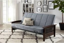 Futon Sofa Bed With Mattress Wood Arm Convertible Couch Full