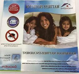 Home Sweet Home Twin Size Fabric Bed Bug Mattress Protector