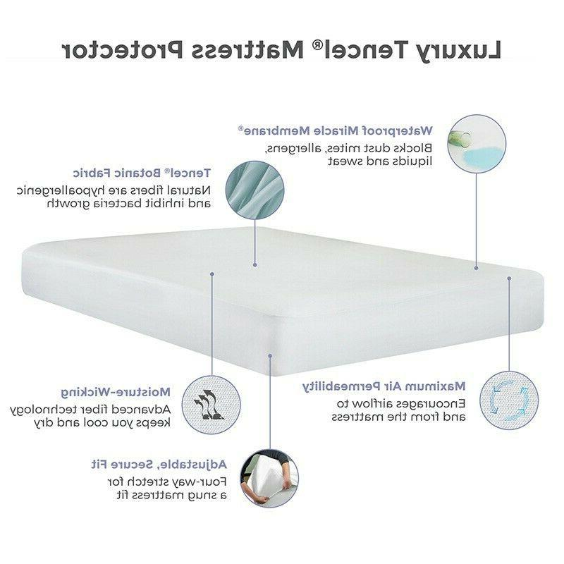 IRVINE COLLECTION Water Resistant Tencel Mattress Protector Cover