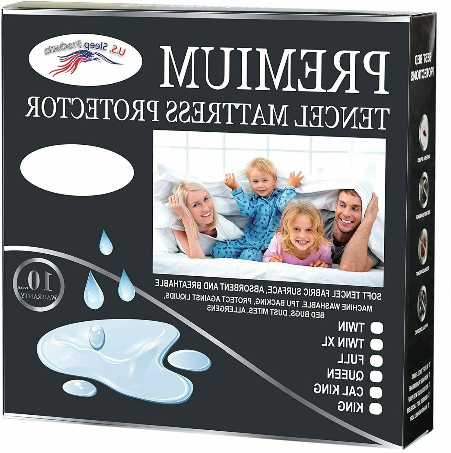 cool water resistant tencel mattress protector cover