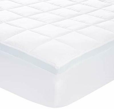 down alternative gusseted mattress bed topper pad