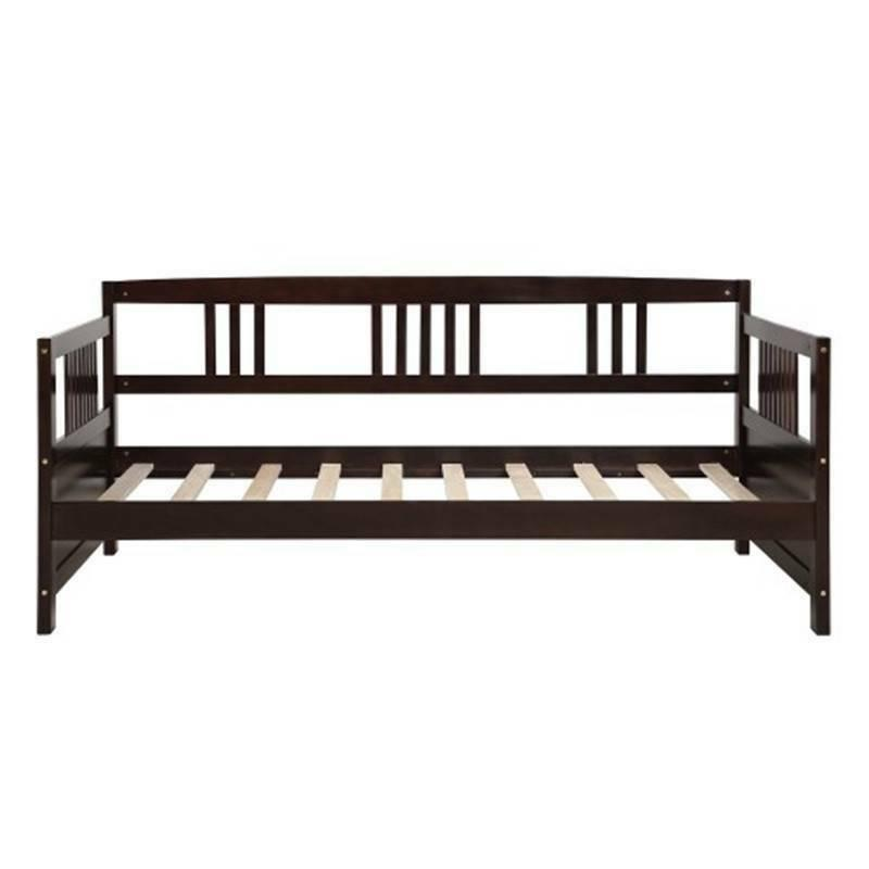 Espresso Twin Wood Daybed No Multifunctional