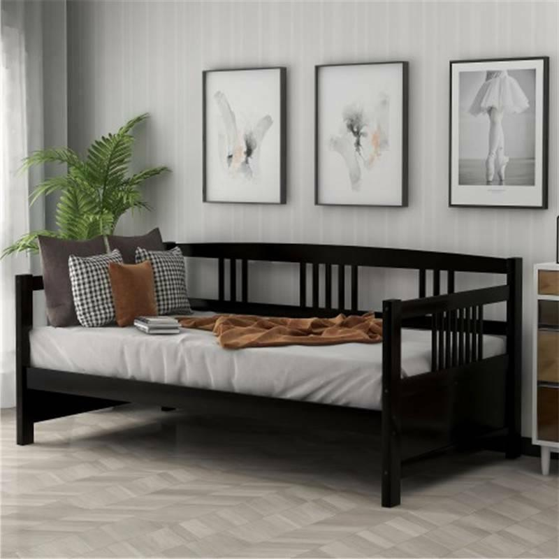 espresso twin size solid wood daybed bed