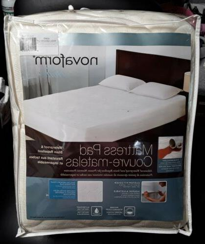 home mattress pad waterproof stain repellent quilted