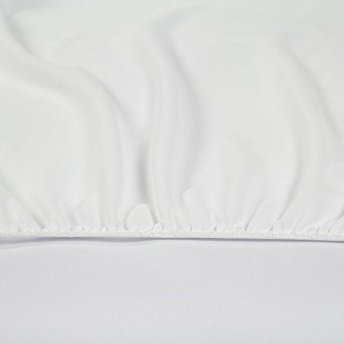 Sunstyle Home Pad Soft Quilted Cover, Waterproof Mattress up to Inches Deep Mattress Topper, Twin XL, White