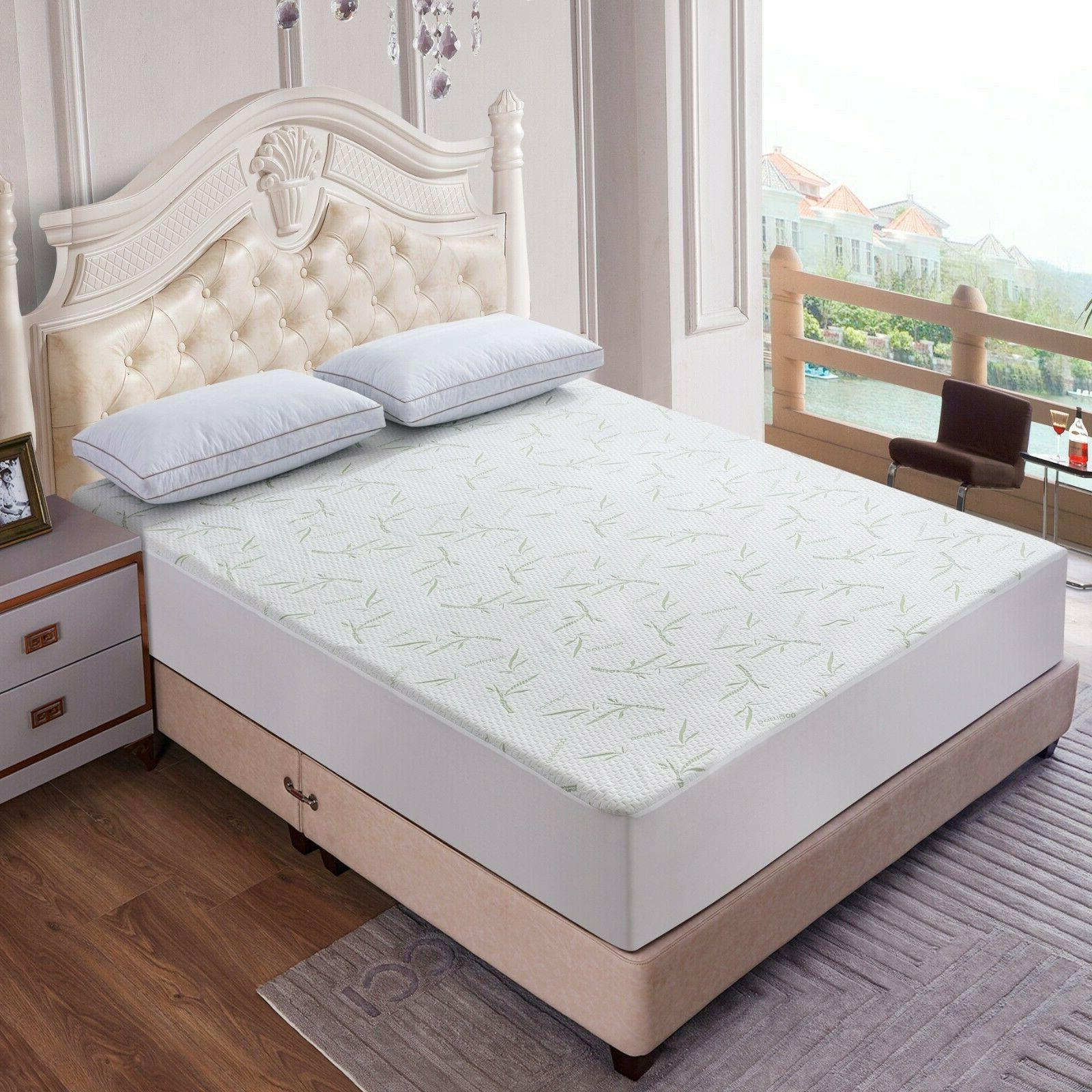 Waterproof Mattress Pad Protector Quilted Hypoallergenic Bed Cover