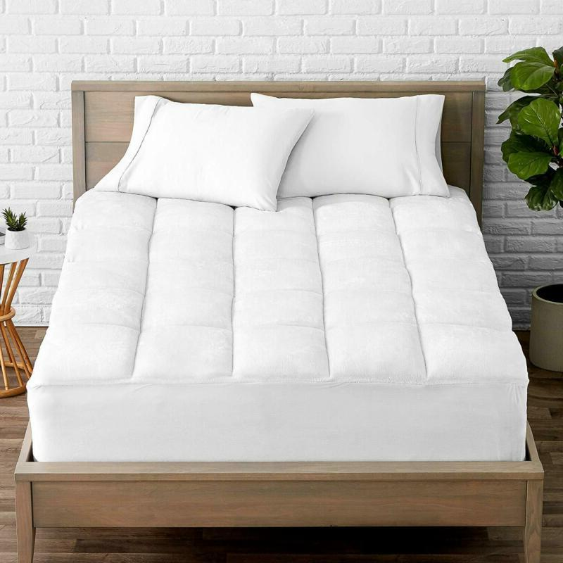 Bare Home Pillow-Top Full Mattress Pad - Premium Goose Down
