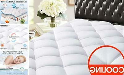 queen reversible mattress pad cover cooling bed