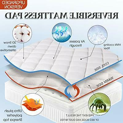 Queen Reversible Mattress Cover Cooling Topper Top with