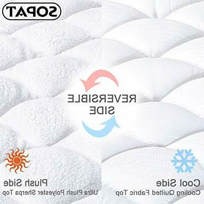 Queen Reversible Cover Cooling Bed Topper with