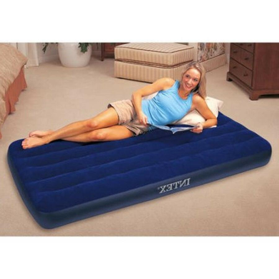 """Intex Twin 8.75"""" Downy Inflatable Airbed Mattress Home Camping"""