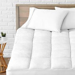 Mattress Pad 1.5'' Microplush Pillow Top Cooling Reversible