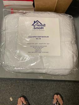"""SMART HOME DELUXE MATTRESS TOPPER QUEEN SIZE WHITE 60"""" x 80"""""""