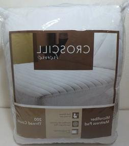 NEW - Croscill Home FULL Microfiber Mattress Pad 200 TC 18""