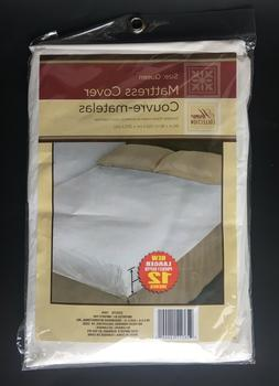 NEW Home Collection Queen Fitted Soft Plastic Mattress Cover