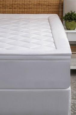 NEW! Allied Home Luxe King Size Diamond Quilted Mattress Top
