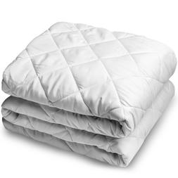 Bare Home Quilted Fitted Mattress Pad - Cooling Mattress Top