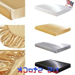 Silk Elastic Soft Cover Mattress Pads Protector Breathable H