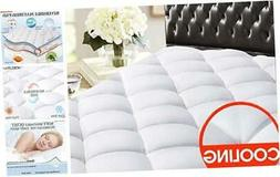SOPAT Full Reversible Mattress Pad Cover Quilted Fitted Cool