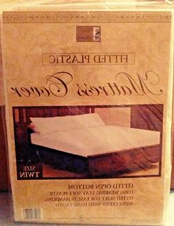 Better Home Twin Fitted Plastic Mattress Cover White Waterpr
