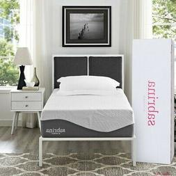 Twin Size Mattress Cool Gel Memory Foam Air Fabric Home Indo