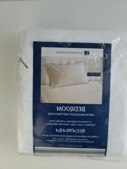 "Huntington Home Water Resistant Mattress Twin Bed Pad 39""X 5"